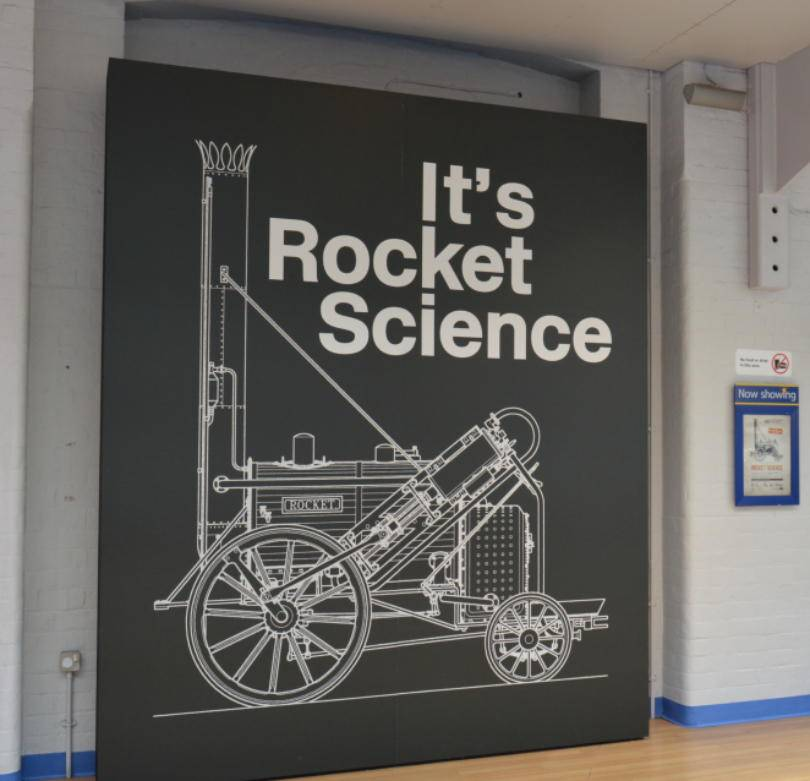Its Rocket Science at the Discovery Museum entrance