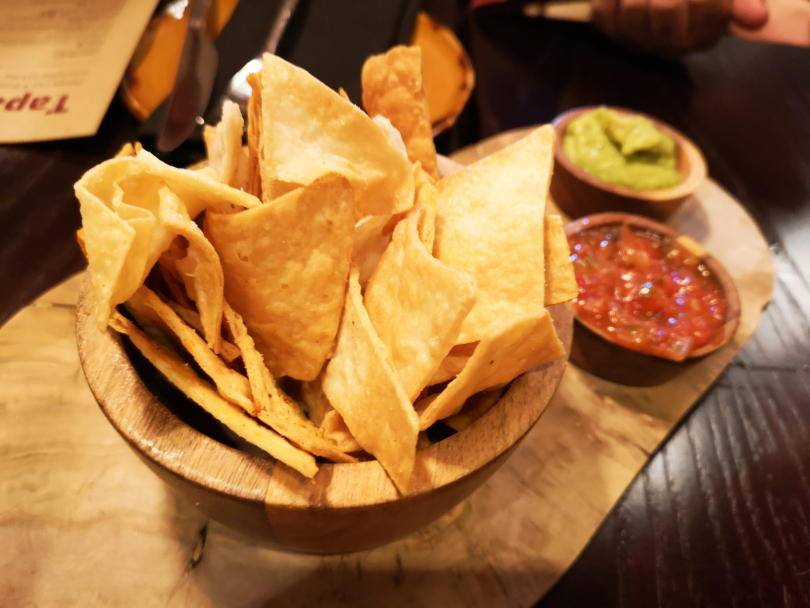 Tortilla chips and dips at El Paso Jesmond