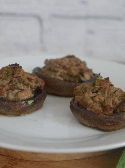 Pate stuffed mushrooms