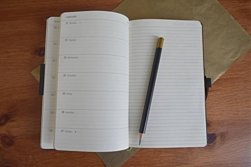 Castelli diary on desk
