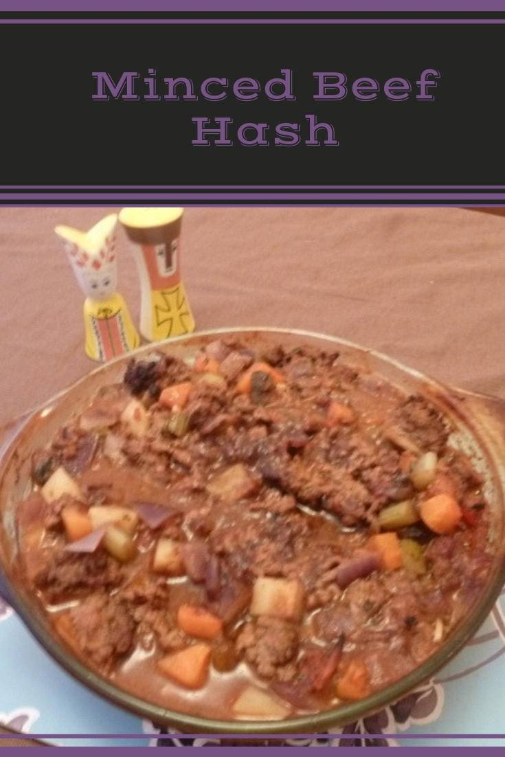Minced beef hash - a delicious one pot meal