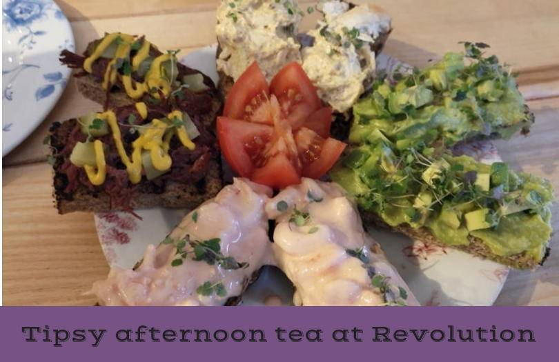 Afternoon tea at Revolution Newcastle - the sandwiches on a plate