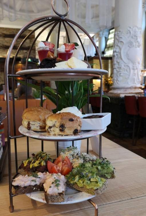 Cocktail afternoon tea on a table at Revolution Newcastle