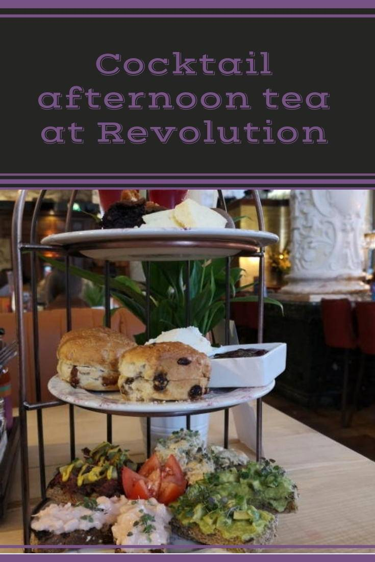 Cocktail afternoon tea at Revolution, Newcastle.