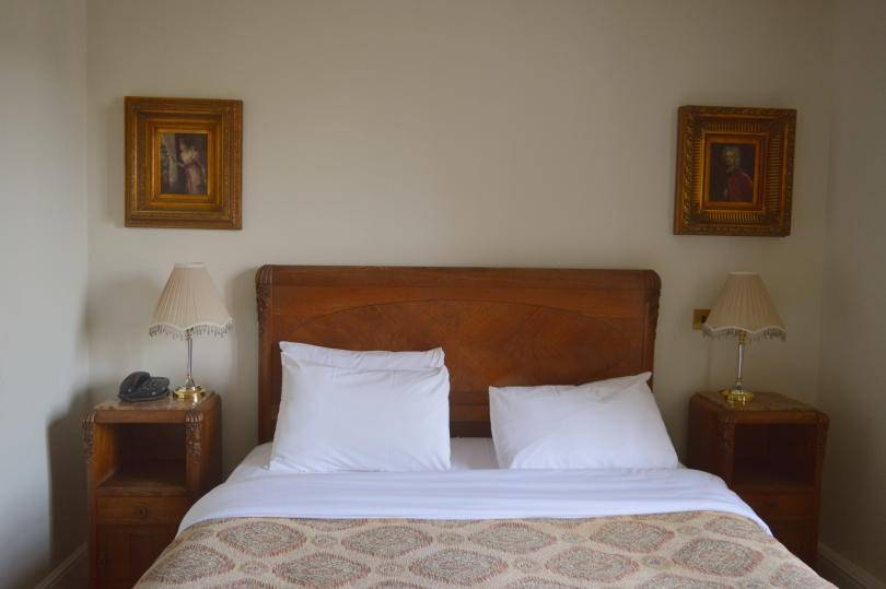 bed in bedroom at Beamish Hall Hotel