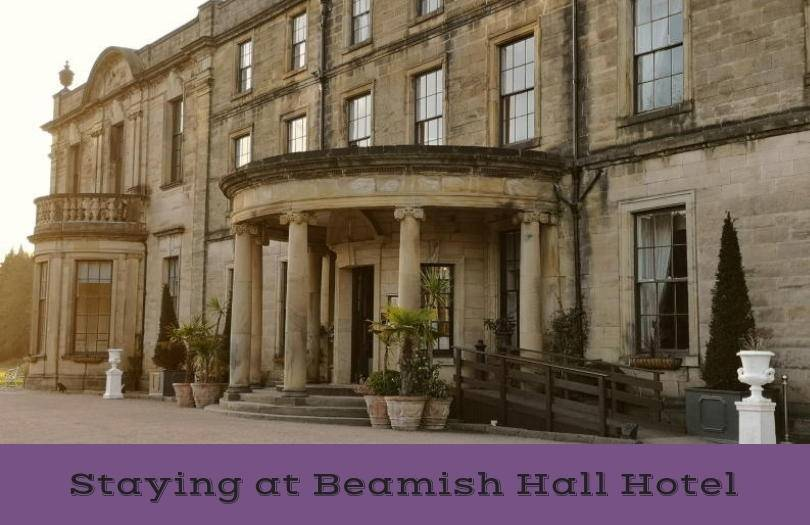 Beamish Hall Hotel from the outside showing the entrance