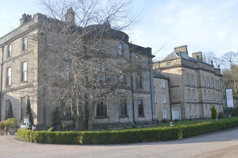 The outside of beamish hall hotel