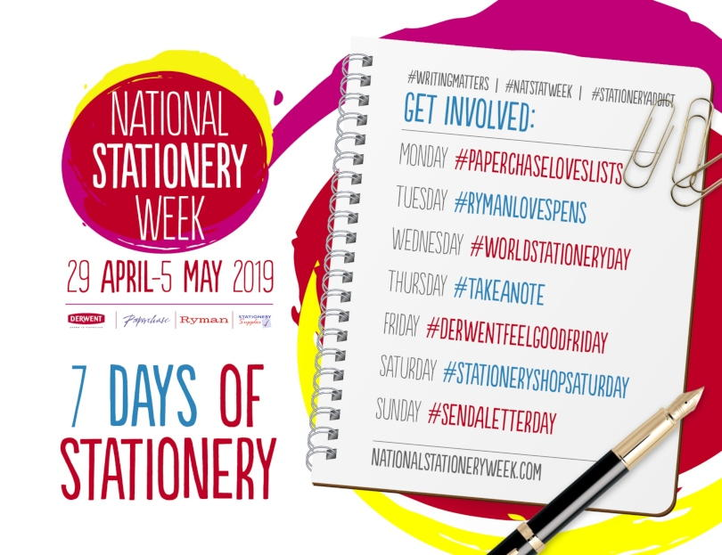 National Stationery Week - seven days of stationery list