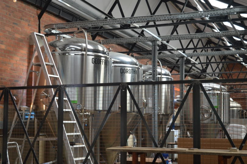 The vats of beer at Tyne Bank brewery