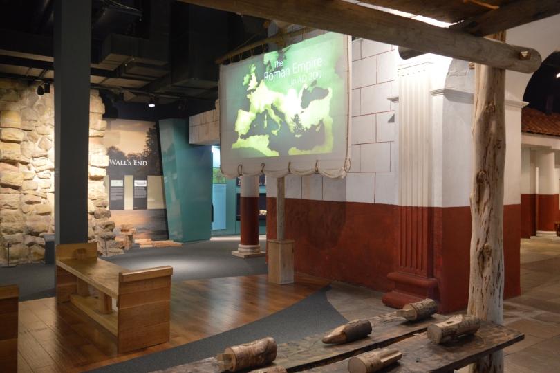 inside the roman gallery at Segedunum
