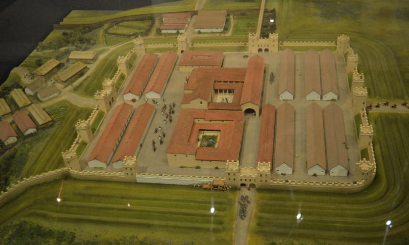 A model showing what Segedunum looked like when it was in use