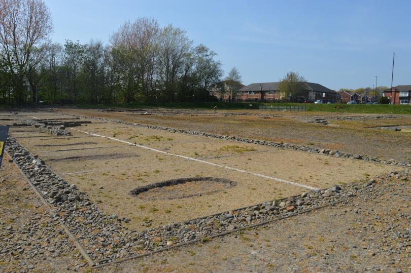 View of the excavated Roman fort at Segedunum