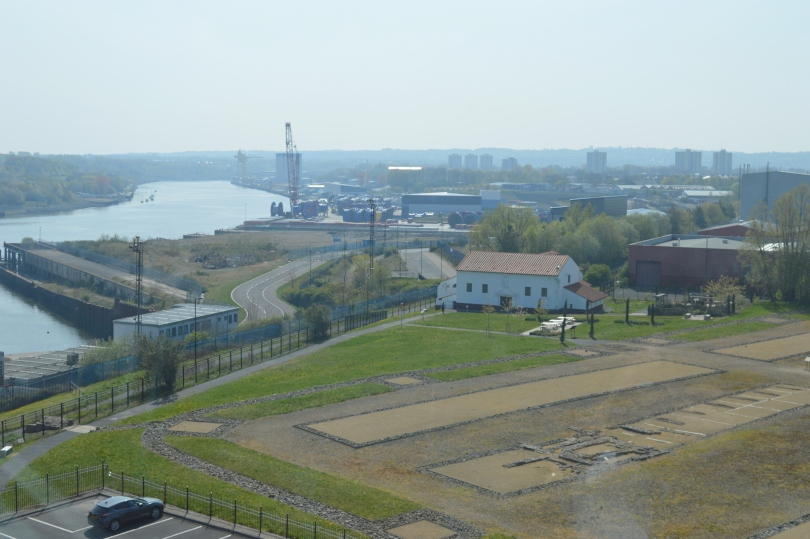 View across segedunum from the viewing gallery