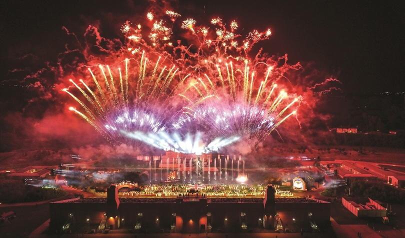 Fireworks at the end of Kynren