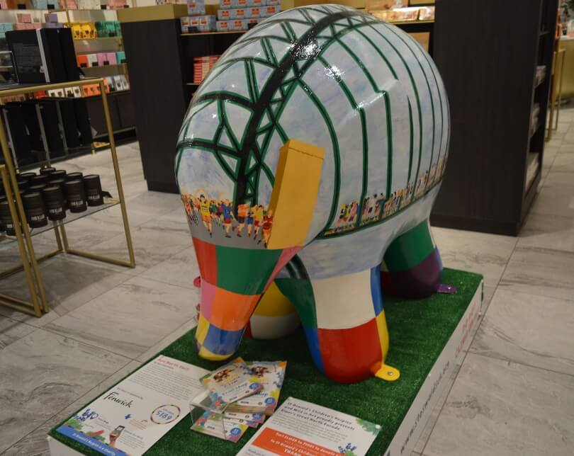 Elmer with Great North Run painted on