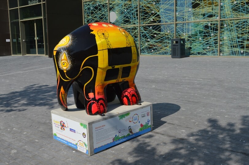 Elmer at the Helix in Newcastle