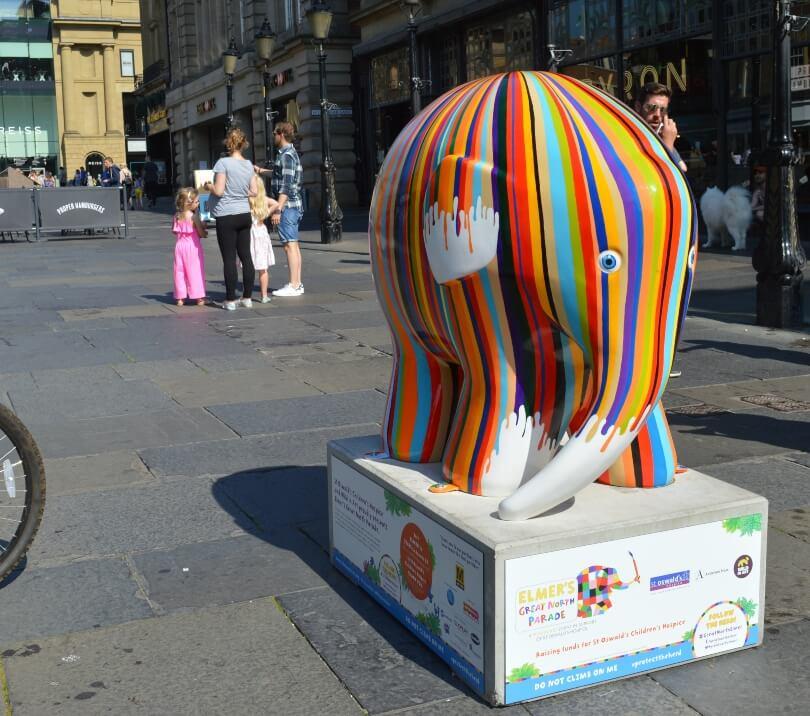 Stripy elmer elephant