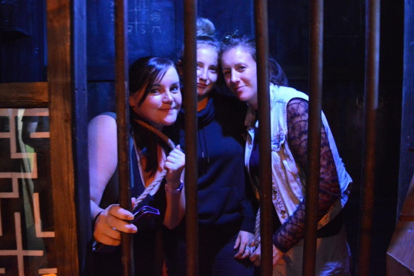 Locked in gaol in the escape room