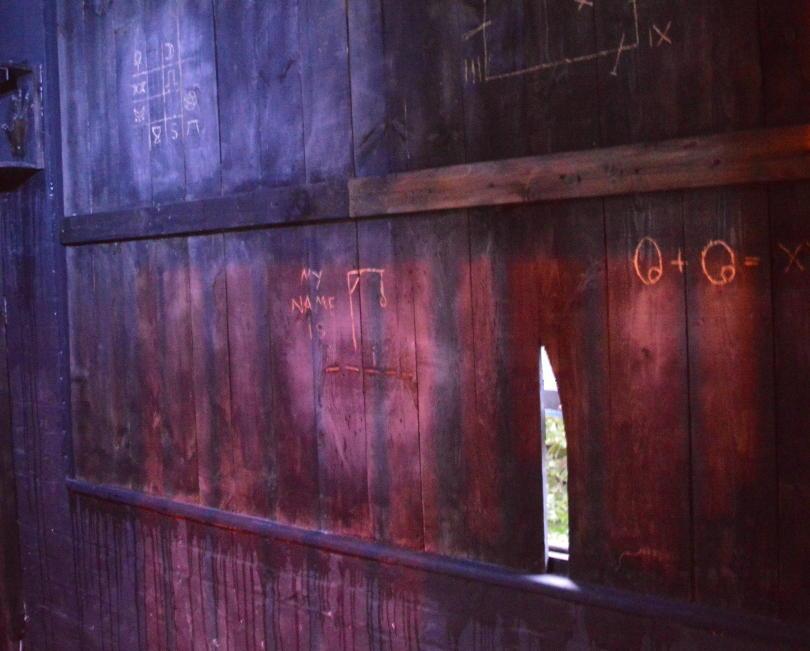 Strange symbols on the walls of the escape room