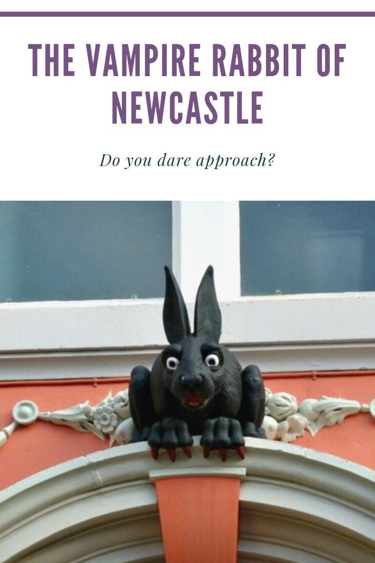 The Vampire Rabbit of Newcastle lurks behind St Nicholas Cathedral. Have you ever seen it?