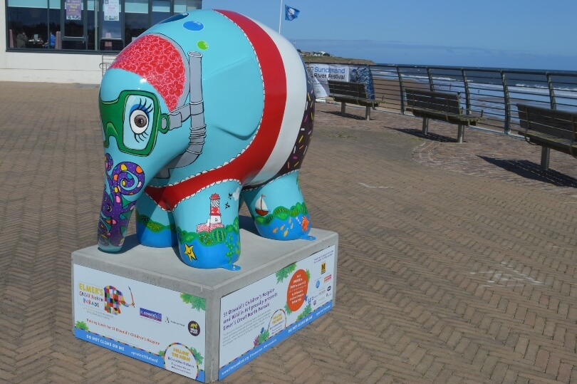 Elmer decorated like a fab icelolly