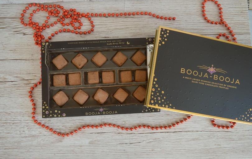 An open box of booja-booja truffles