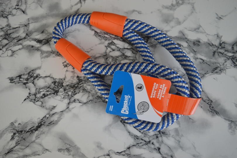 A rope dog toy from Chuckit