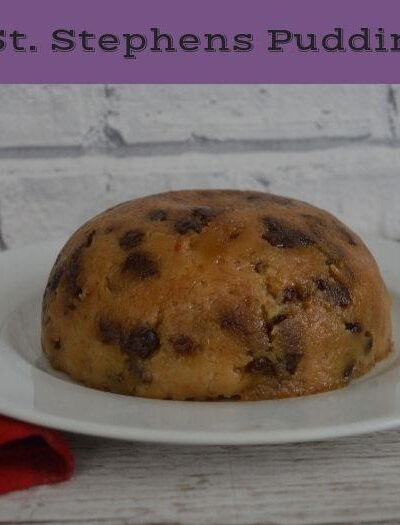 St Stephen's pudding on a plate
