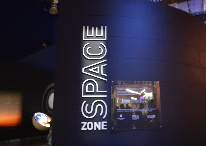 The space zone at the life science centre