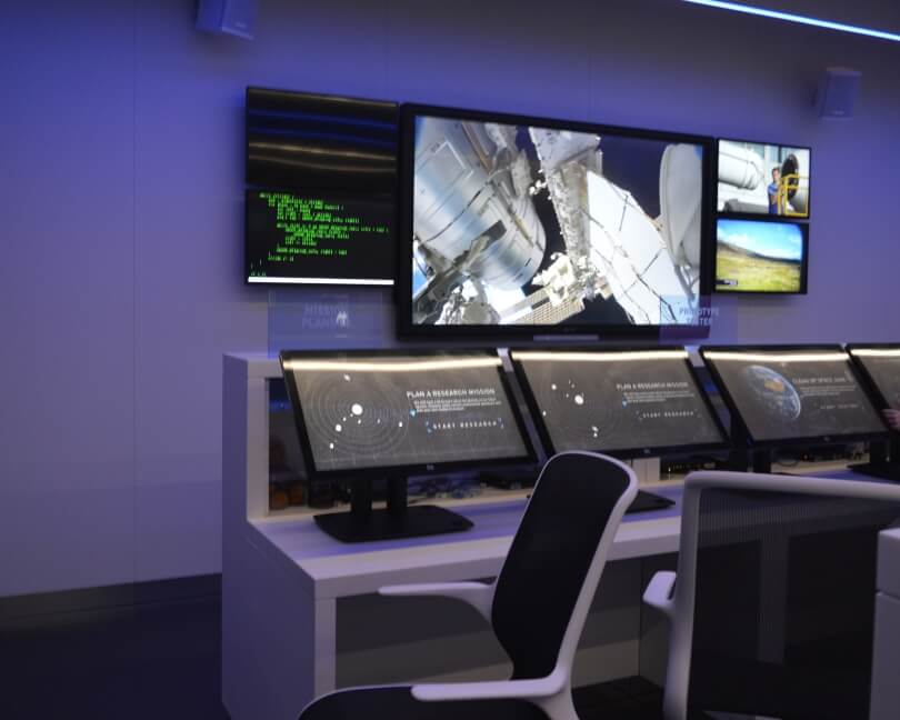 Mission control in the space zone at the centre for life