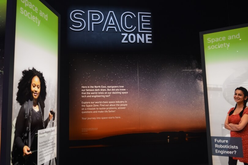 The entrance to the space zone at the Life Science Centre