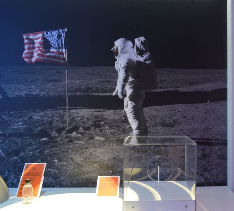 Moon rock at the centre for life
