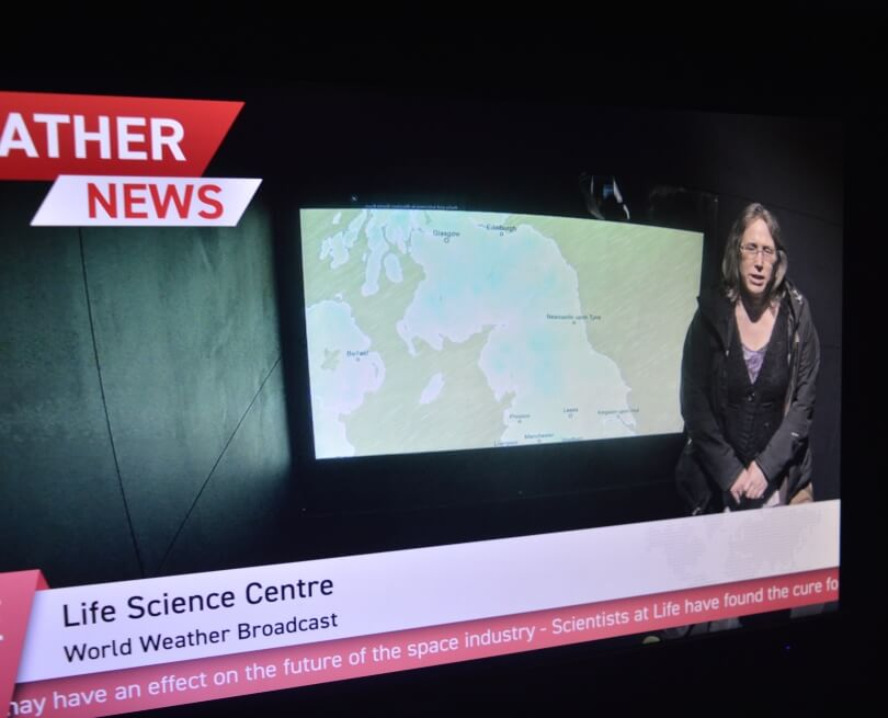 Presenting the weather at the centre for life