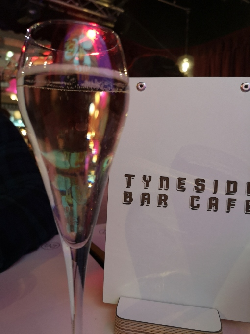 Tyneside bar cafe glass of prosecco