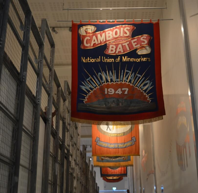 miners banners at woodhorn