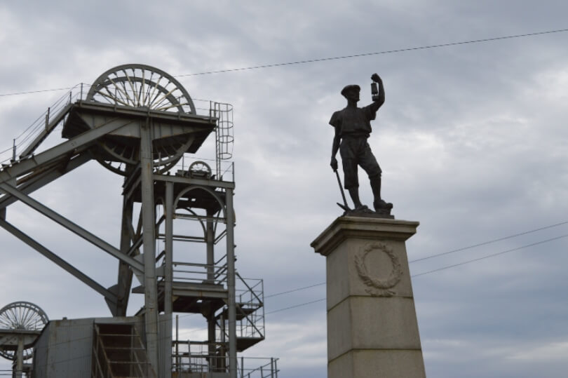 Miner statue at woodhorn museum