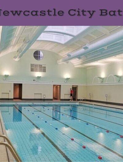 Inside Newcastle pool
