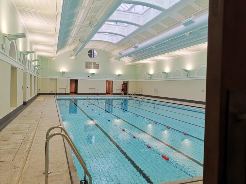 A view of Newcastle City Pool swimming pool after refurbishment