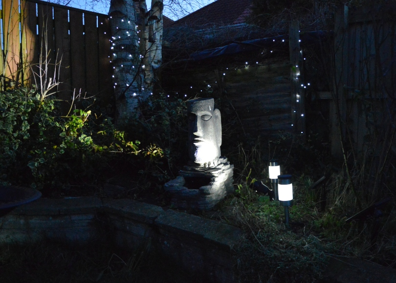 outdoor solar lights in the garden