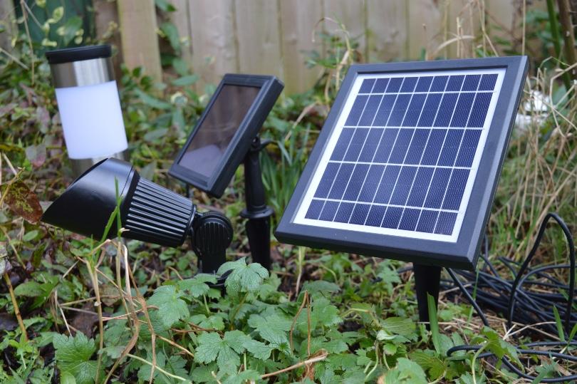 The solar panel for the outside solar spot light