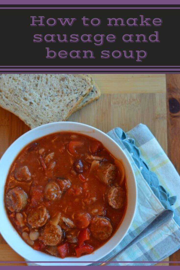 Sausage and bean soup is a Sausage and bean soup is perfect for a cold day. Why not try the recipe?