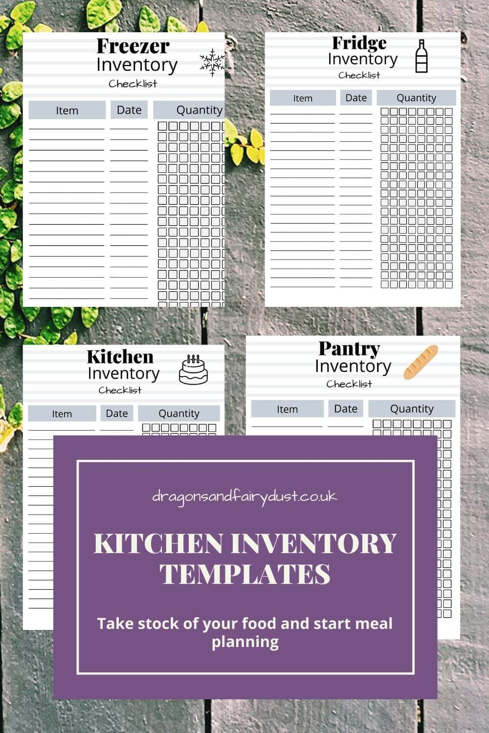 Kitchen Inventory Templates to print out