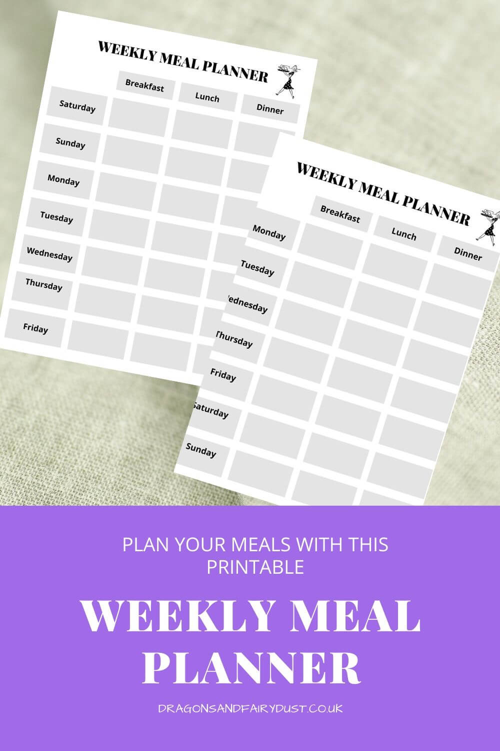 weekly meal planning templates