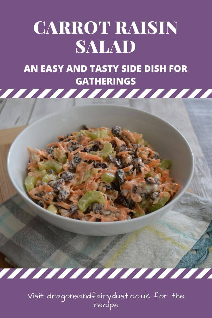 Carrot raisin salad is a delicious and easy dish perfect for barbecues