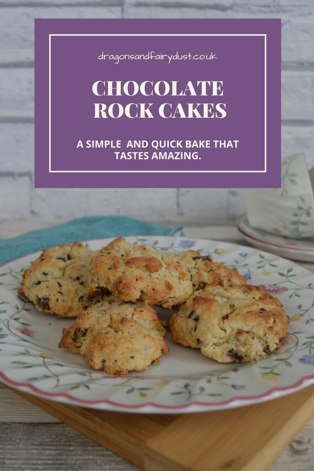 Chocolate rock cakes are a simple and delicious bake. Once you try one you will come back for more.