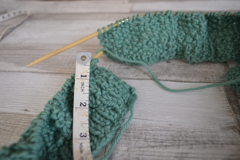 Rib stitch knitting which has gone wrong