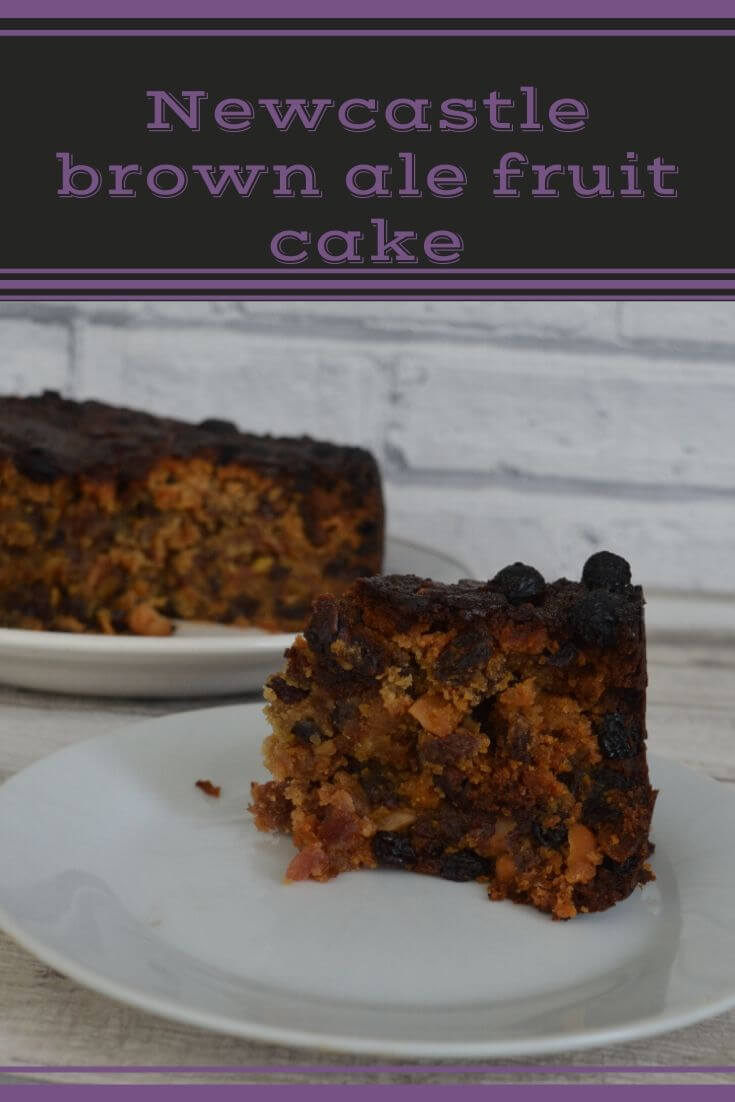 Newcastle brown ale fruit cake is a delicious moist cake that is really easy to make