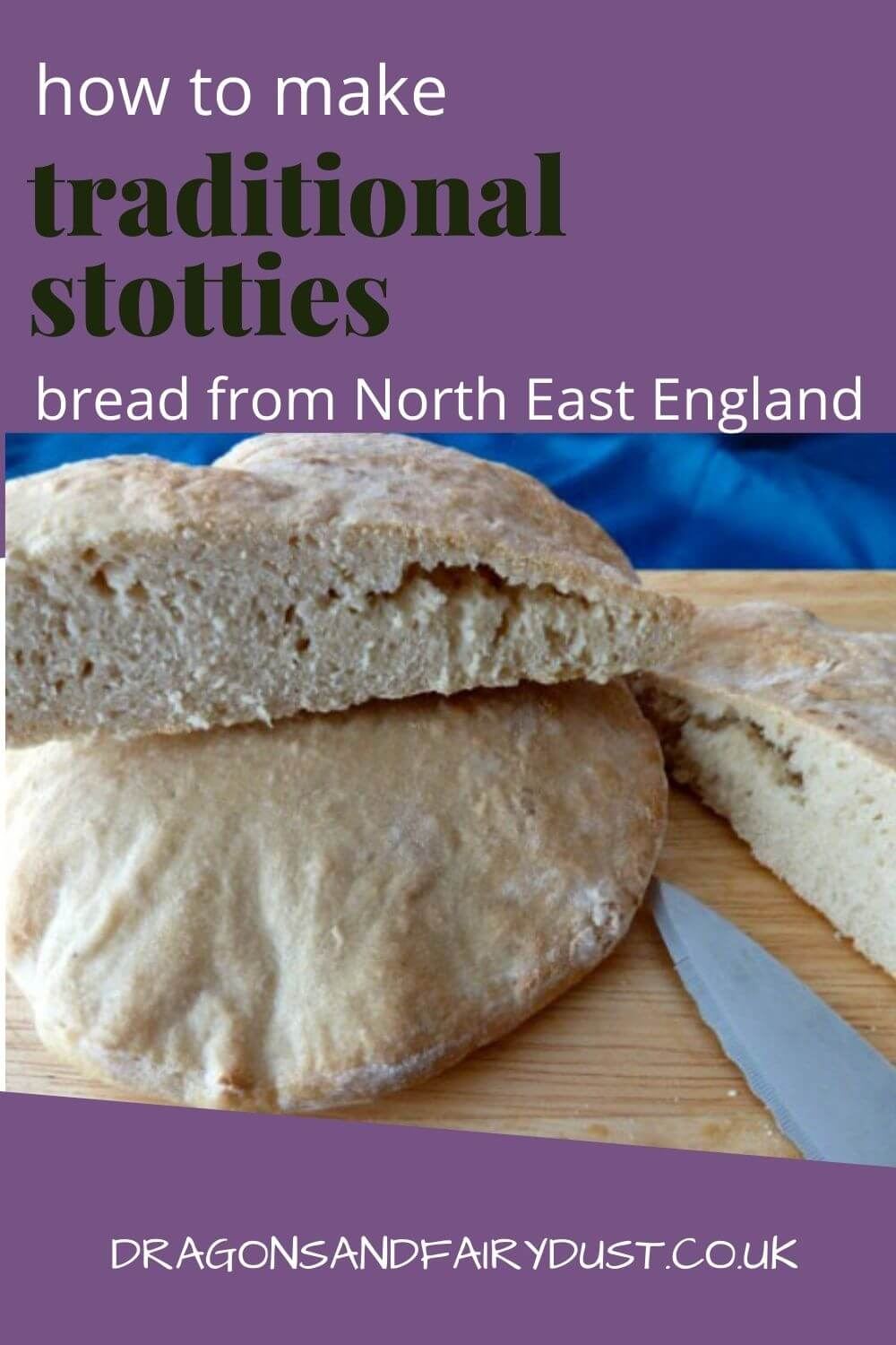 A traditional stotty is a disc of bread that makes slowly in the oven. They are really easy to make