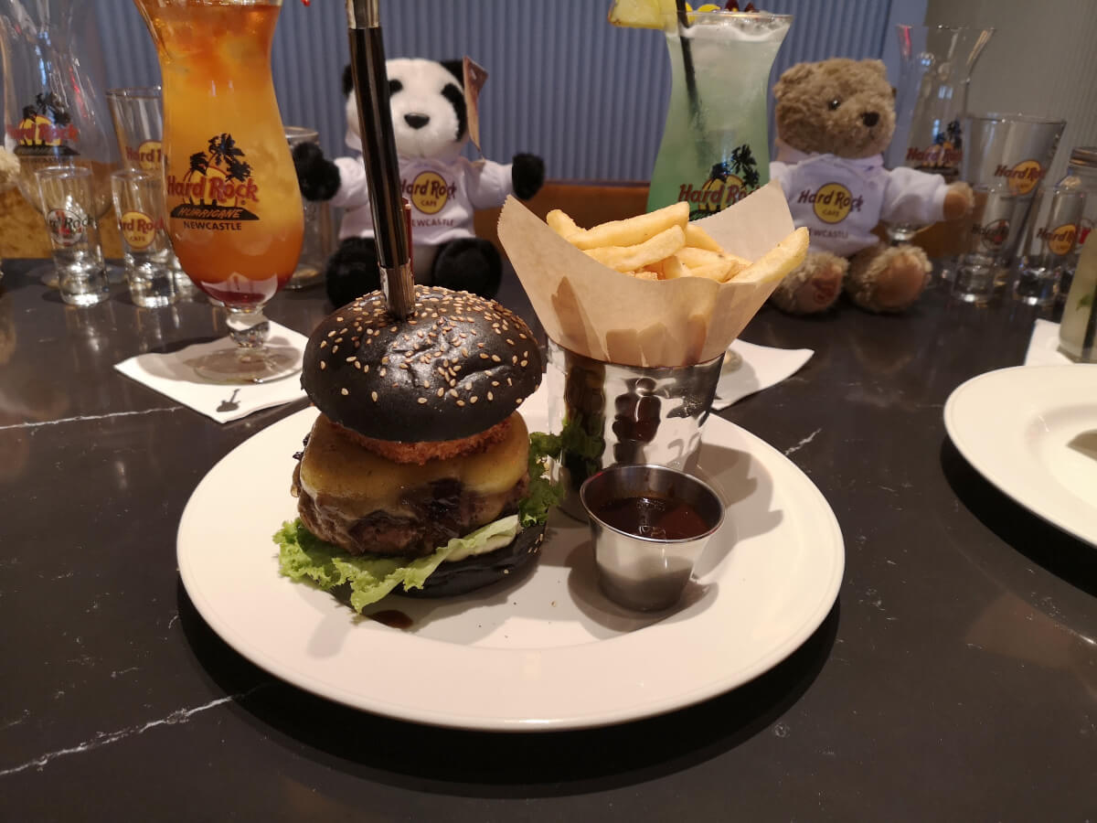 Whey Aye burger from the  Hard Rock Cafe Newcastle