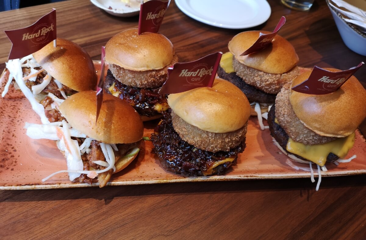 A selection of sliders on a plate